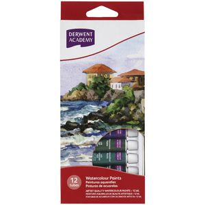 Derwent Academy Watercolour Paints 12 Pack