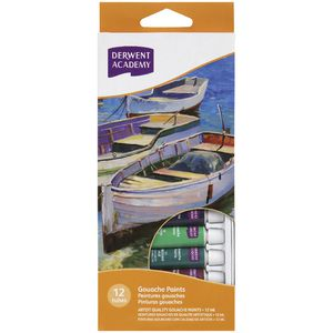 Derwent Academy Gouache Paints 12 Pack