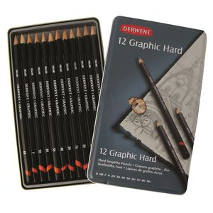 Derwent Graphic Sketching Pencils Hard 12 Pack