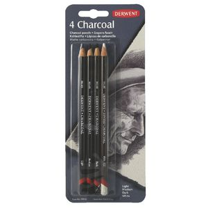 Derwent Charcoal Pencils 4 Pack