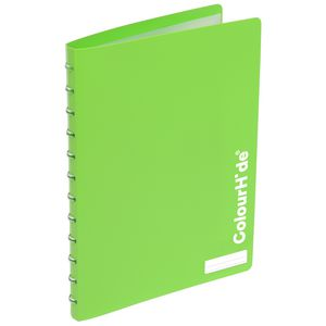 ColourHide Display Book A4 20 Pocket Refillable Heavy Green