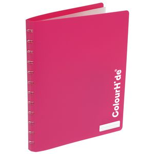 ColourHide Display Book A4 20 Pocket Refillable Heavy Pink