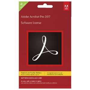 Adobe Acrobat Pro 2017 Windows Education Edition Card