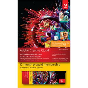 Adobe Creative Cloud Education 1 PC 12 Months Card