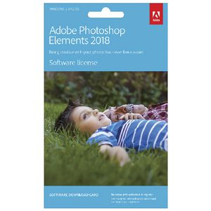 Adobe Photoshop Elements 2018 Card