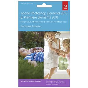 Adobe Photoshop and Premiere Elements 2018 Card