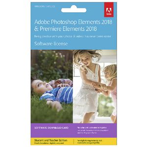 Adobe Photoshop and Premiere Elements 2018 Education Card