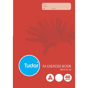 Tudor A4 Exercise Book 14mm 48 Page
