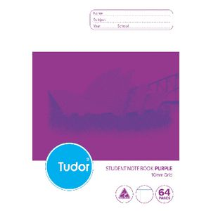 Tudor B5 NSW Student Notebook Purple