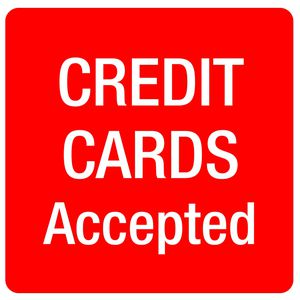 Apli Credit Cards Accepted Self Adhesive Sign