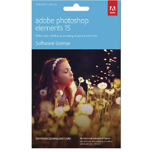 Adobe Photoshop Elements 15 PC or Mac Card