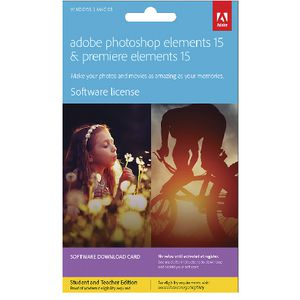 Adobe Photoshop and Premiere Elements 15 Education Download