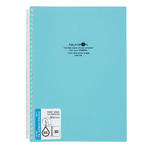 Aqua Drops Twinkle Twist Ring B5 Notebook Teal 30 Page
