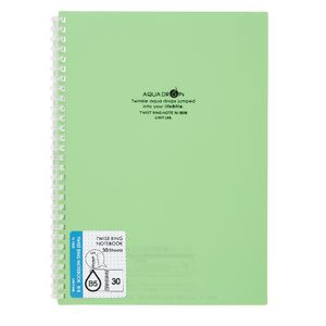 Aqua Drops Twinkle Twist Ring B5 Notebook Lime 30 Page