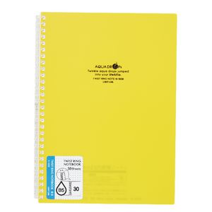 Aqua Drops Twinkle Twist Ring B5 Notebook Yellow 30 Page