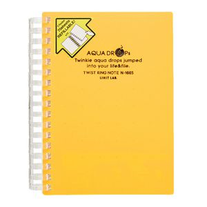 Aqua Drops Twinkle Twist Ring A6 Notebook Orange 70 Page