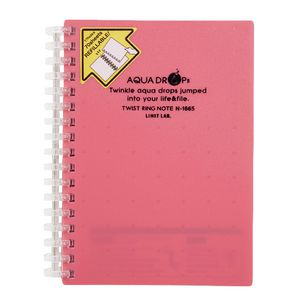 Aqua Drops Twinkle Twist Ring A6 Notebook Pink 70 Page