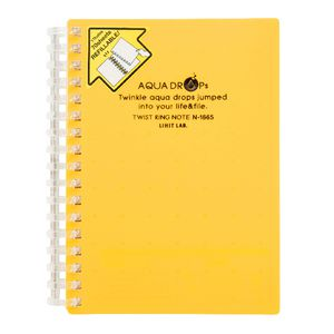 Aqua Drops Twinkle Twist Ring A6 Notebook Yellow 70 Page