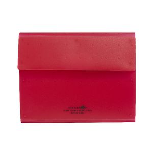Aqua Drops Business Card Holder Red
