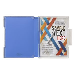 Aqua Drops Slim Document Case A4 Blue