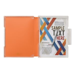 Aqua Drops Slim Document Case A4 Orange