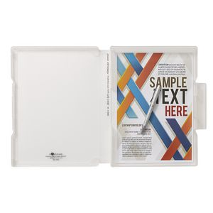 Aqua Drops Slim Document Case A4 Clear