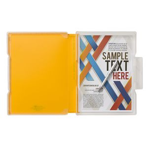 Aqua Drops Slim Document Case A4 Yellow