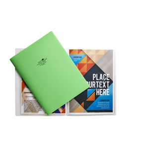 Aqua Drops A4 Display Book 10 Pocket Fixed Lime
