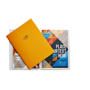 Aqua Drops A4 Display Book 10 Pocket Fixed Orange