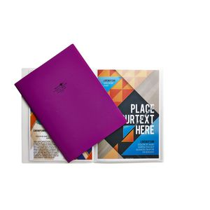 Aqua Drops A4 Display Book 10 Pocket Fixed Purple