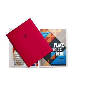 Aqua Drops A4 Display Book 10 Pocket Fixed Red