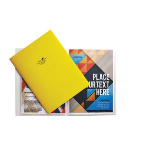 Aqua Drops A4 Display Book 10 Pocket Fixed Yellow