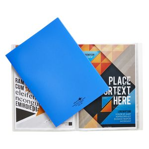 Aqua Drops A4 Display Book 20 Pocket Fixed Blue