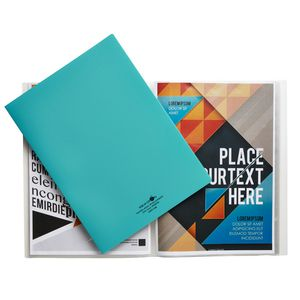 Aqua Drops A4 Display Book 20 Pocket Fixed Green