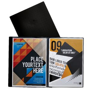 Aqua Drops A4 6 Page Pocket File Black