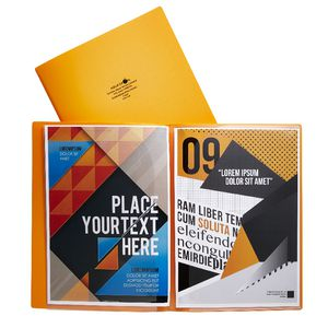 Aqua Drops A4 6 Page Pocket File Orange