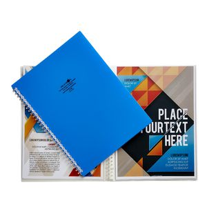 Aqua Drops Refillable Display Book A4 10 Pocket Blue