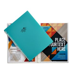Aqua Drops Refillable Display Book A4 10 Pocket Green