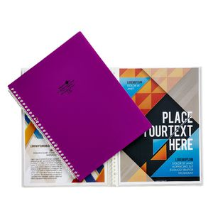 Aqua Drops Refillable Display Book A4 10 Pocket Purple