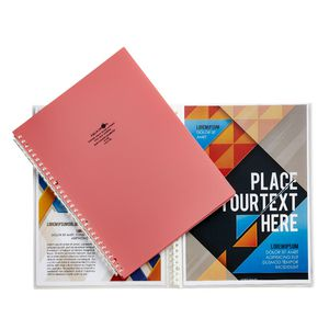 Aqua Drops Refillable Display Book A4 10 Pocket Pink