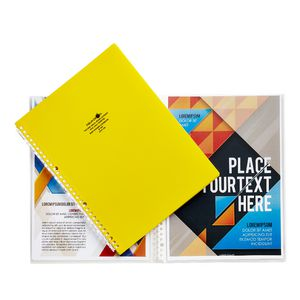 Aqua Drops Refillable Display Book A4 10 Pocket Yellow