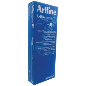 Artline Supreme Fineliner Red 12 Pack