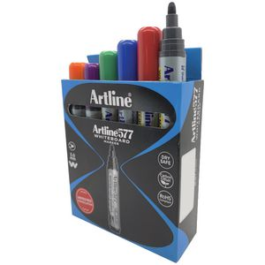 Artline 577 Whiteboard Marker Assorted 12 Pack