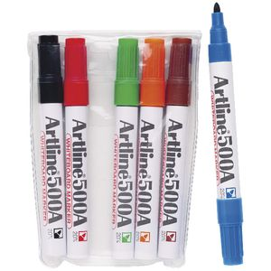 Artline 500A Whiteboard Markers Assorted 6 Pack