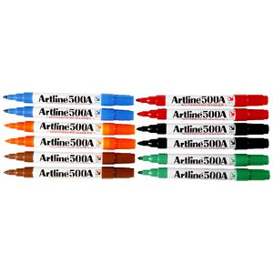 Artline 500A Whiteboard Marker Assorted 12 Pack
