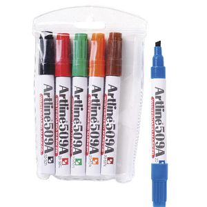 Artline 509A Whiteboard Markers Assorted 6 Pack