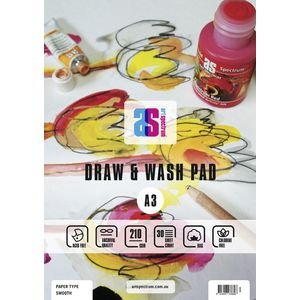 Art Spectrum A3 Draw and Wash Pad Smooth 210gsm 60 Page