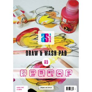 Art Spectrum A5 Draw and Wash Pad Smooth 125gsm 60 Page