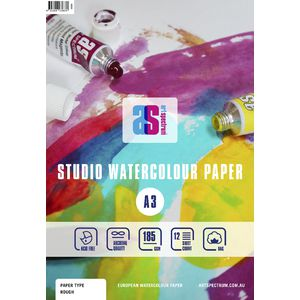 Art Spectrum A3 Watercolour Pad Rough 185gsm 24 Page