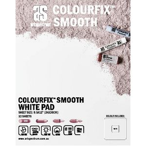 Art Spectrum Colourfix Pad 24 x 30cm Smooth White